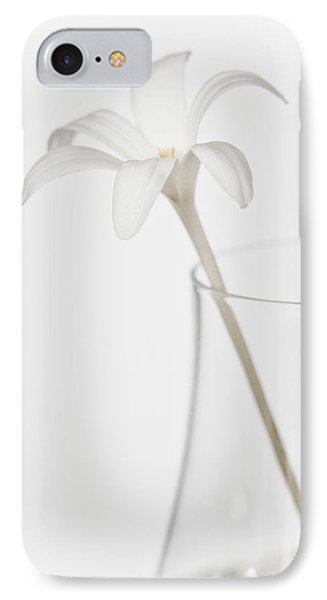 IPhone Case featuring the photograph White Flower In A Vase by Zoe Ferrie
