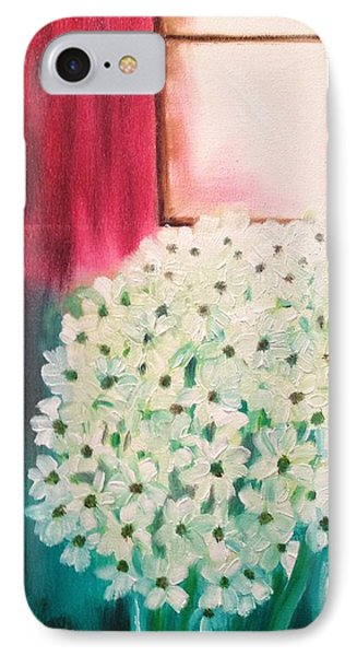 White Flowers IPhone Case by Brindha Naveen