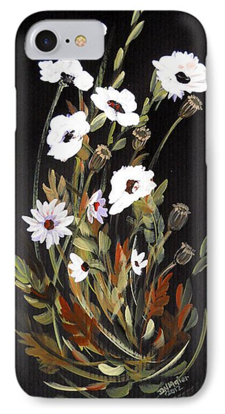 White Flowers IPhone Case by Dorothy Maier