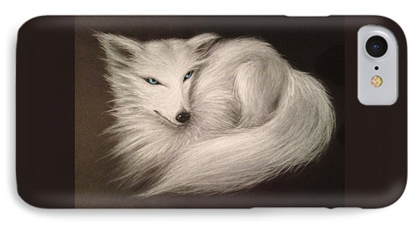 White Fox IPhone Case by Patricia Lintner