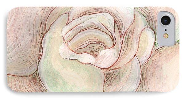 White Gardenia 2 IPhone Case by Anna Skaradzinska