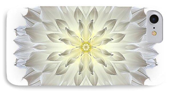 Giant White Dahlia I Flower Mandala White IPhone Case by David J Bookbinder