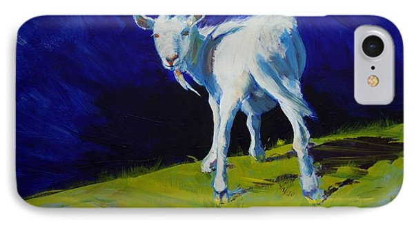 White Goat Painting IPhone Case