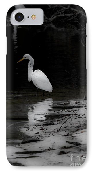 White Heron IPhone Case by Angela DeFrias