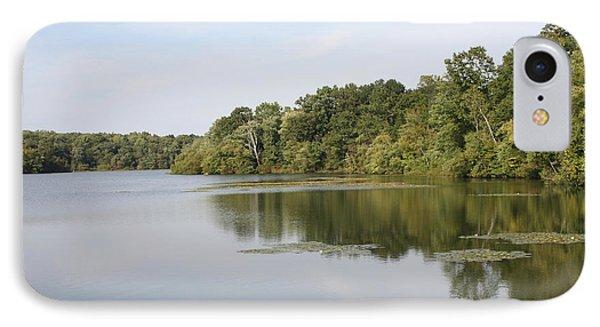 White Heron Lake Poconos Pa II Phone Case by John Telfer