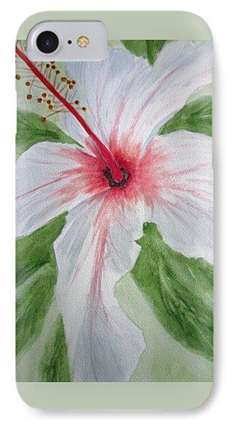 White Hibiscus Flower IPhone Case