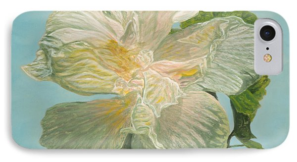 White Hibiscus Phone Case by Michael Allen Wolfe
