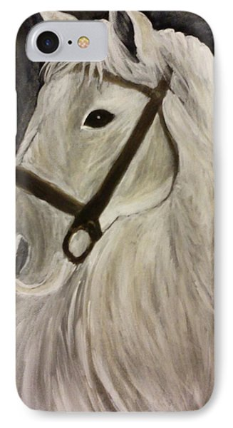 White Horse IPhone Case by Christy Saunders Church