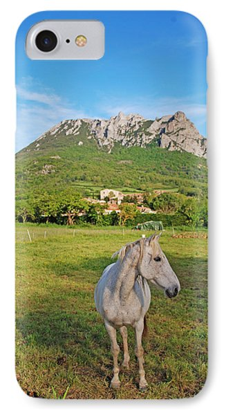White Horse Dreaming IPhone Case by Ankya Klay