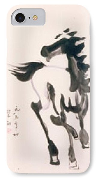 IPhone Case featuring the painting White Horse  by Fereshteh Stoecklein