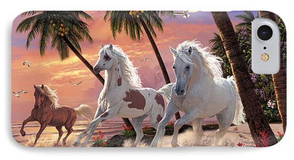 White Horses IPhone Case