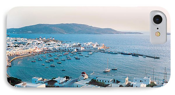 White Houses & Aegean Sea Mykonos Isl IPhone Case by Panoramic Images