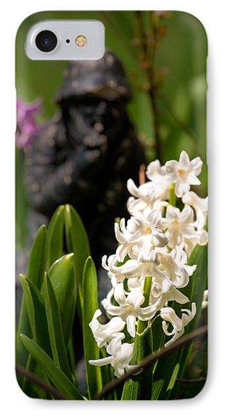 White Hyacinth In The Garden IPhone Case by  Onyonet  Photo Studios