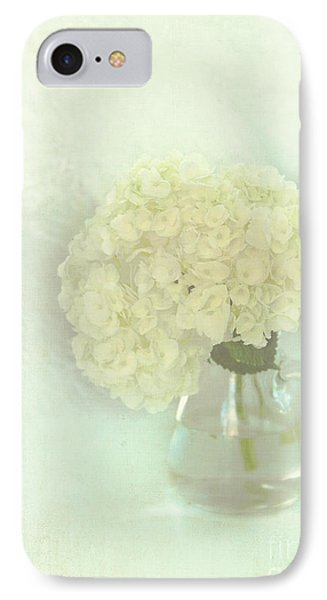 White Hydrangeas Phone Case by Kay Pickens