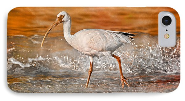 Ibis iPhone 7 Case - White Ibis Stroll by Betsy Knapp