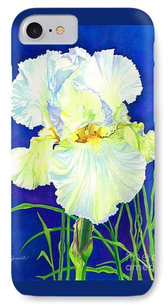 White Iris Phone Case by Barbara Jewell