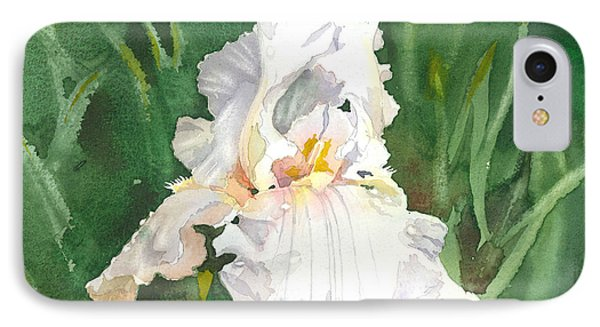 White Iris Phone Case by Spencer Meagher
