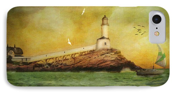 White Island Light - Isles Of Shoals IPhone Case by Lianne Schneider