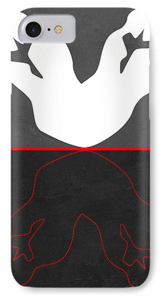 White Kiss IPhone Case by Naxart Studio