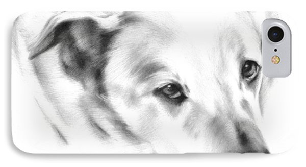 White Labrador IPhone Case by Natasha Denger