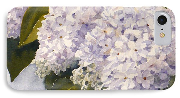 White Lilacs IPhone Case by Janet  Zeh