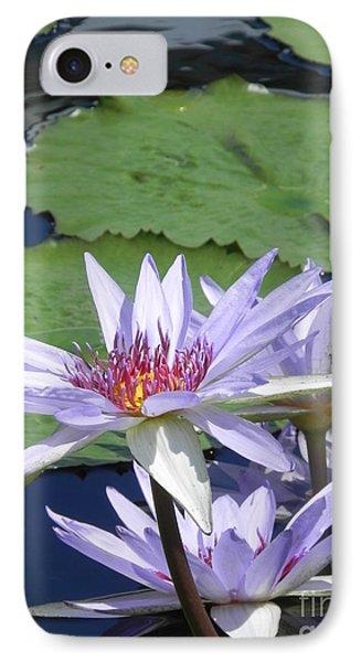 White Lilies IPhone Case by Chrisann Ellis