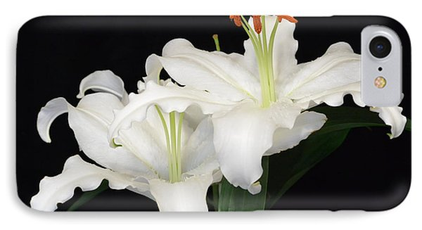 IPhone Case featuring the photograph White  Lilies by Jeannie Rhode