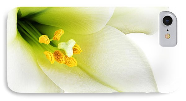 White Lilly Macro IPhone Case