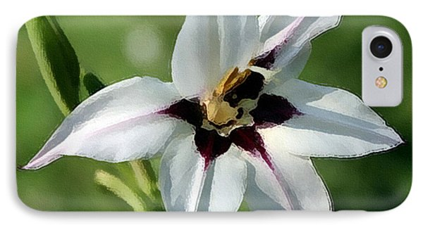 IPhone Case featuring the photograph White Lily - A Beauty by Ellen Tully