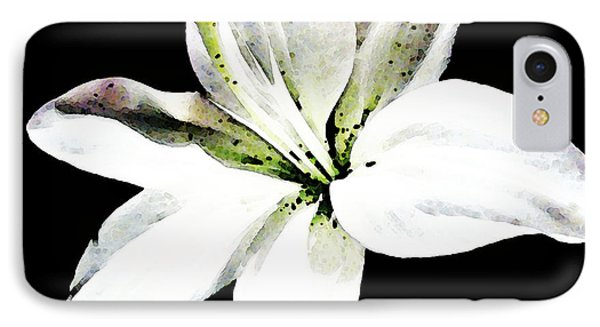 White Lily - Elegant Black And White Floral Art By Sharon Cummings Phone Case by Sharon Cummings