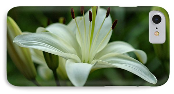 White Lily Phone Case by Sandy Keeton