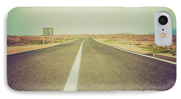 White Line On A Main Road IPhone Case by Wladimir Bulgar