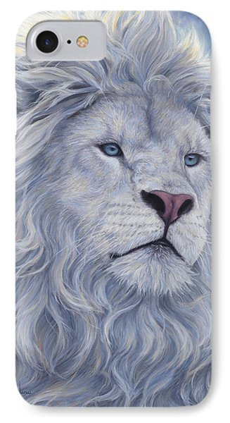 Lion iPhone 7 Case - White Lion by Lucie Bilodeau