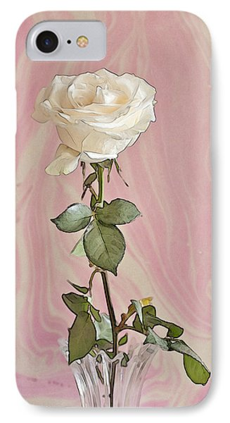 IPhone Case featuring the photograph White Long Stemmed Rose by Sandra Foster