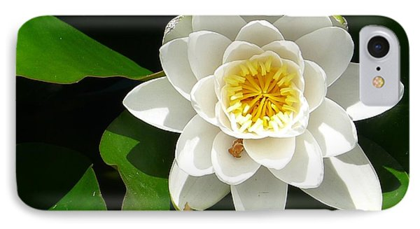 White Lotus Heart Leaf  IPhone Case