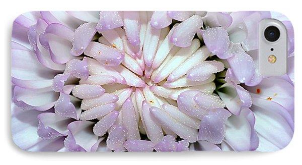 White Mauve Miniature Dahlia - Close Up IPhone Case