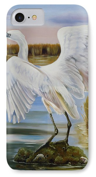 White Morph Reddish Egret At Creole Gap IPhone Case