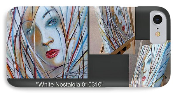 IPhone Case featuring the painting White Nostalgia 010310 Comp by Selena Boron