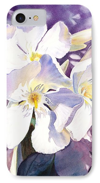 White Oleander IPhone Case by Irina Sztukowski