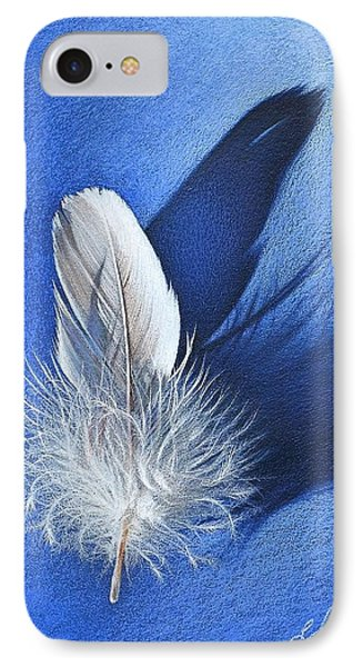 White On Blue IPhone Case by Elena Kolotusha