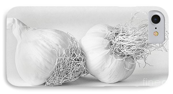 Two Bulbs Of Garlic IPhone Case by Janet Burdon