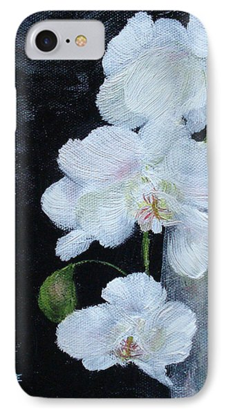 White Orchid IPhone Case