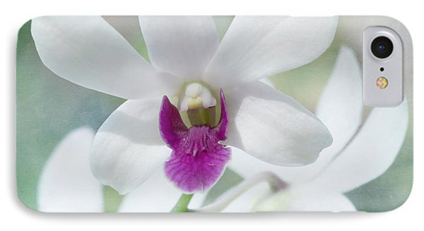 White Orchid Phone Case by Kim Hojnacki