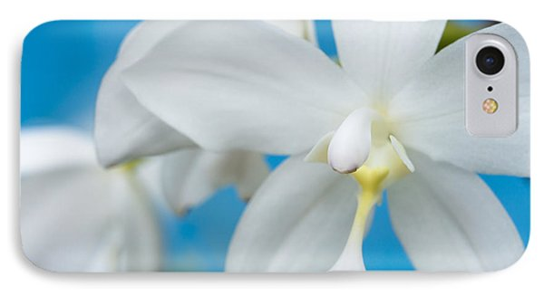 IPhone Case featuring the photograph White Orchid by Leigh Anne Meeks