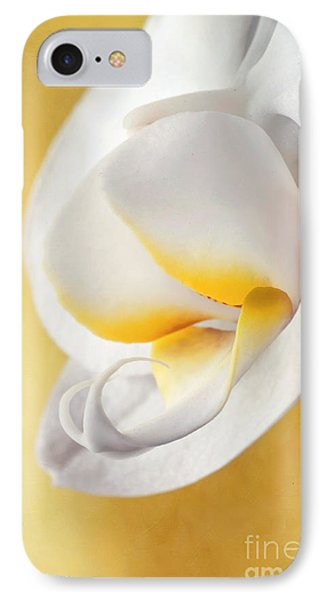 White Orchid IPhone Case by Priska Wettstein