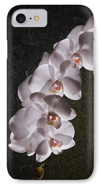 White Orchid Still Life IPhone Case