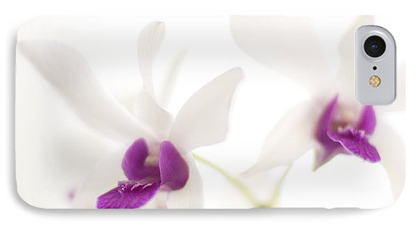 White Orchids IPhone Case by Bradley R Youngberg