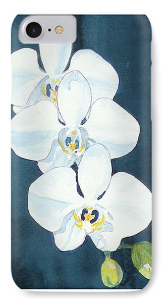 IPhone Case featuring the painting White Orchids by C Sitton