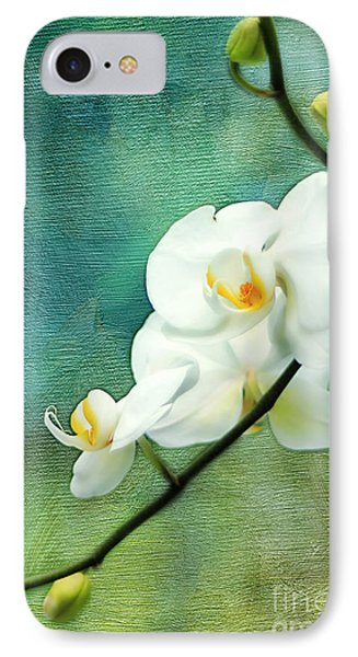 White Orchids Phone Case by Darren Fisher