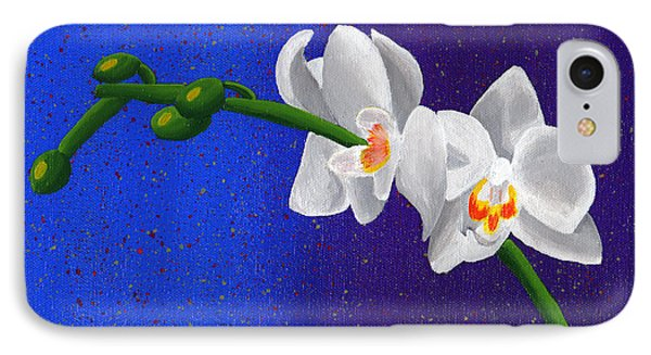 IPhone Case featuring the painting White Orchids by Laura Forde